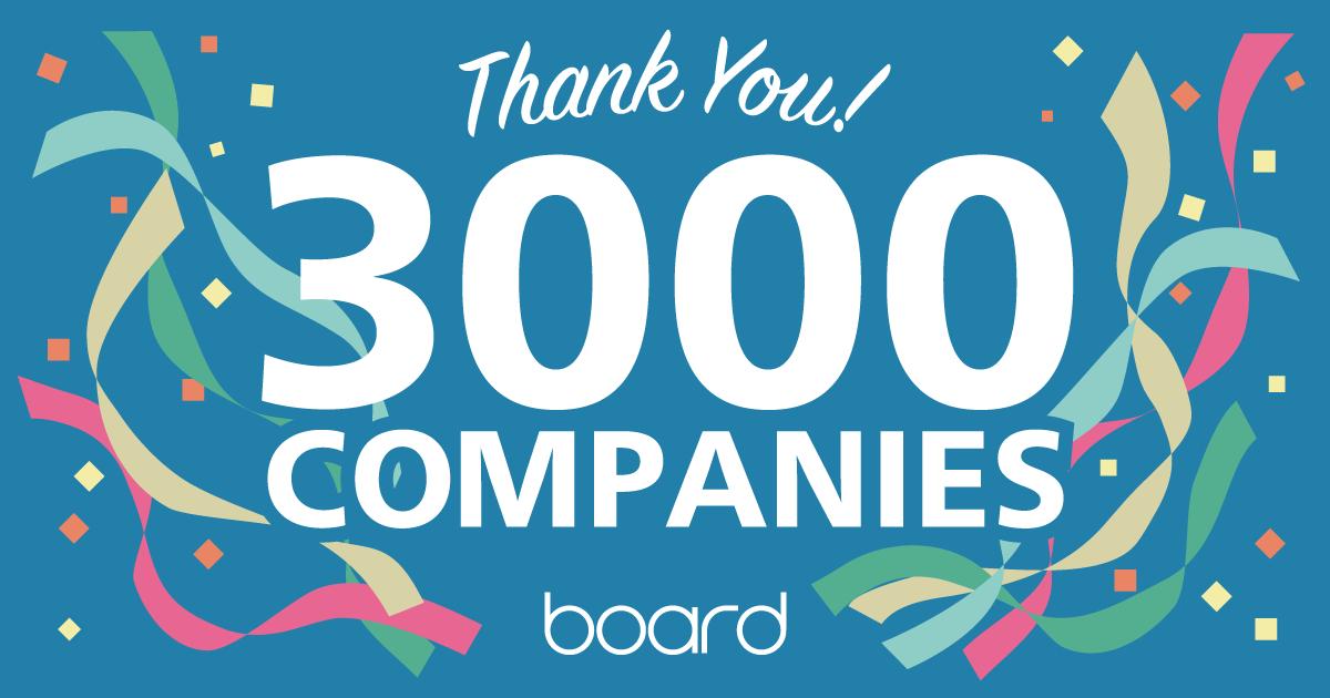 board 3000社突破